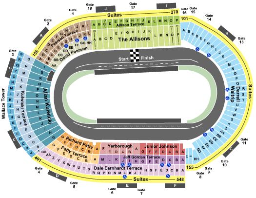 Bristol Motor Speedway Seating Map