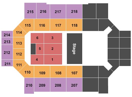 Broadmoor World Arena Floor Plan