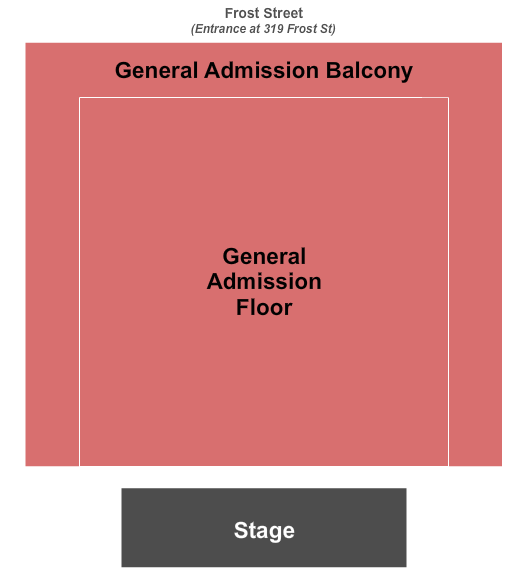 Brooklyn Steel Seating Chart