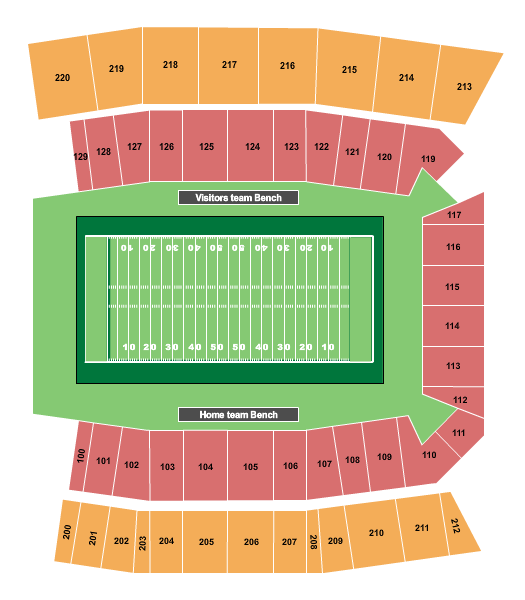 Brooks Stadium - Conway seating chart event tickets center