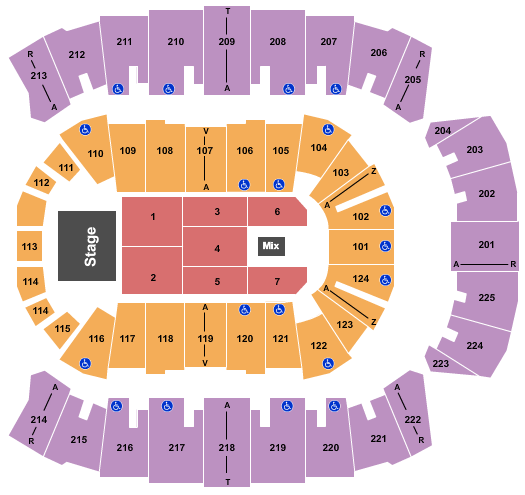 Brookshire Grocery Arena seating chart event tickets center