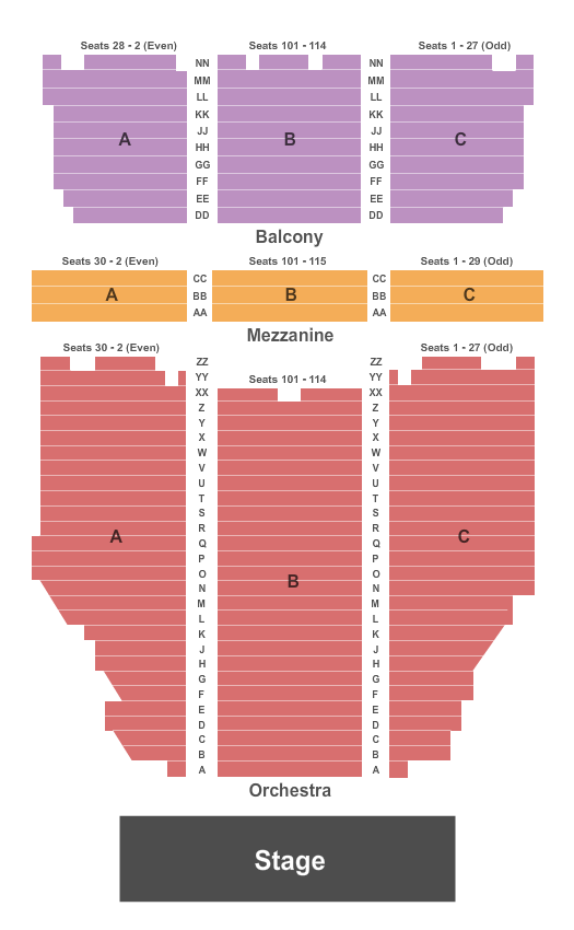 Broome County Forum Floor Plan