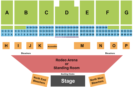 Bud Light Grandstand at Colorado State Fair Seating Map