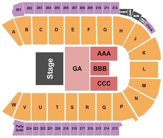 Budweiser Events Center Floor Plan