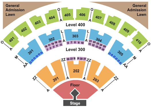 Budweiser Stage - Toronto seating chart event tickets center