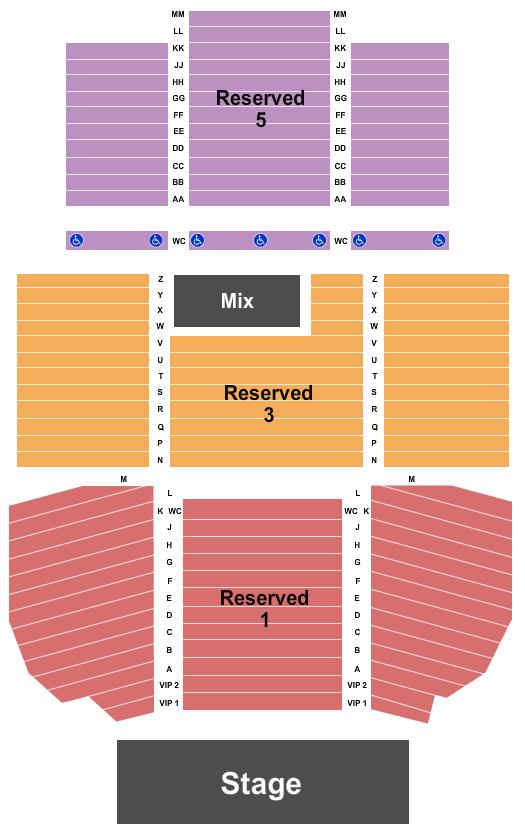 Cache Creek Casino Resort - Event Center Floor Plan