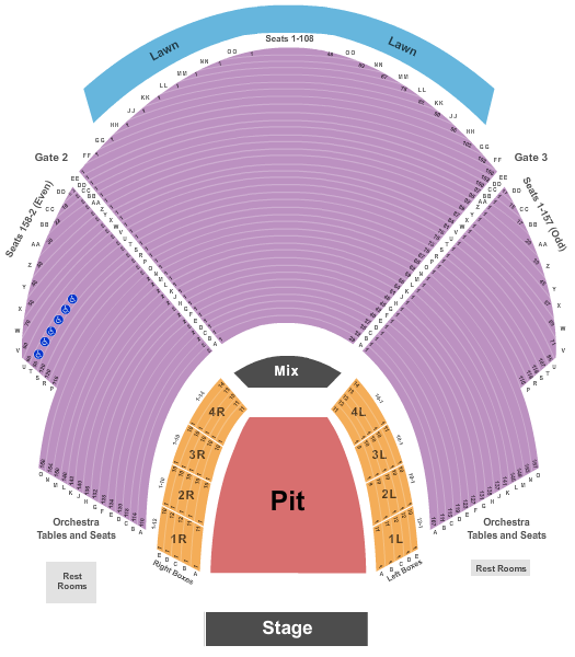 Cadence Bank Amphitheatre at Chastain Park seating chart event tickets center