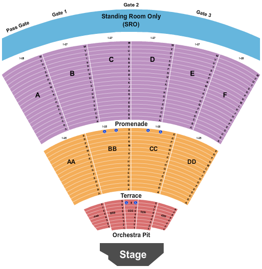 Cal Coast Credit Union Open Air Theatre seating chart event tickets center