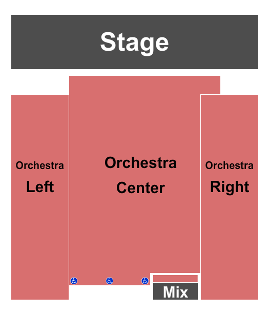 Camelot Theatre - CA Seating Chart