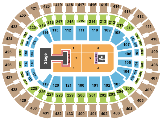 Capital One Arena seating chart event tickets center