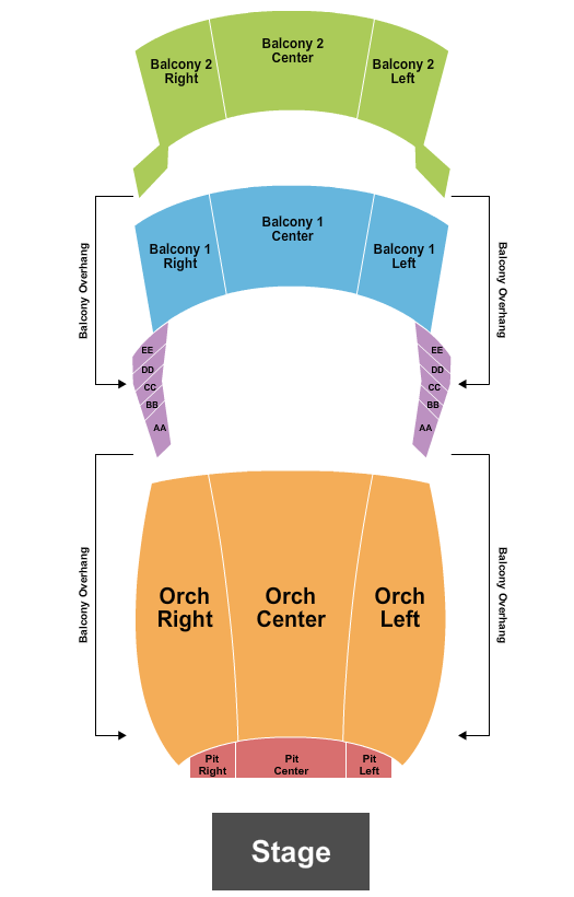 Capital One Hall Seating Chart Plan