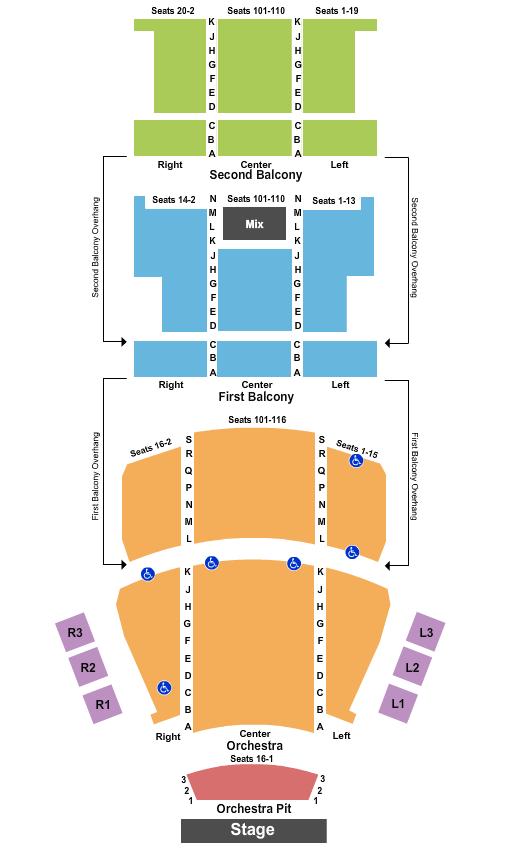 Carolina Theatre - Durham Floor Plan
