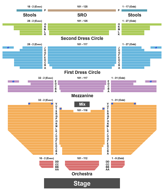 Carpenter Theatre at Dominion Energy Center seating chart event tickets center