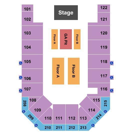 Casper Events Center seating chart event tickets center
