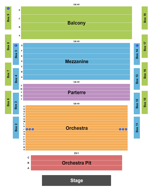 Castellow Ford Center For The Performing Arts Seating Chart