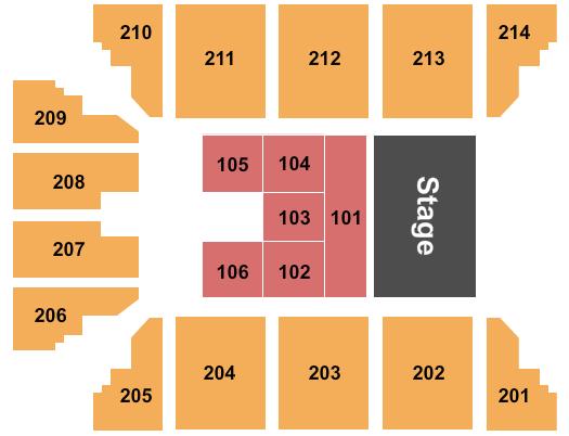 seating chart for Stride Bank Center Disney Princess Concert - eventticketscenter.com
