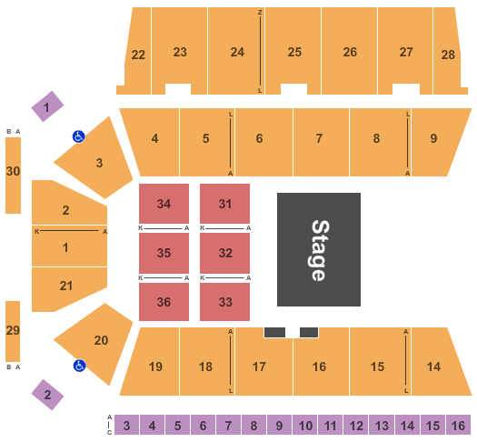 Centre 200 Seating Chart