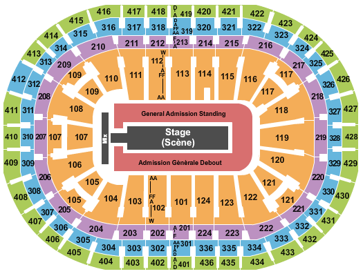 Centre Bell seating chart event tickets center