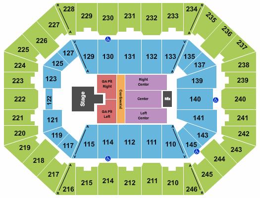 Charleston Coliseum & Convention Center - Charleston Floor Plan