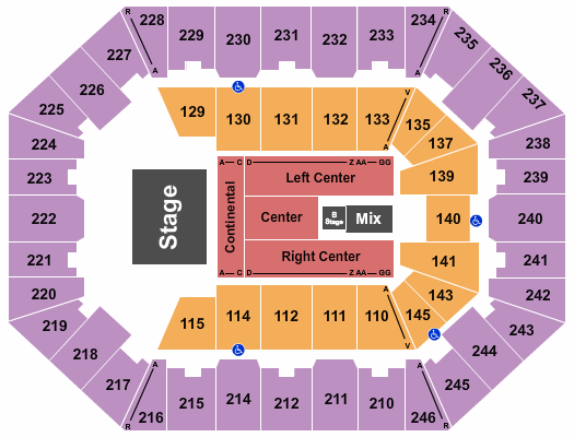 Charleston Coliseum & Convention Center - Charleston seating chart event tickets center