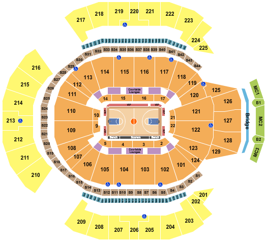 Chase Center Basketball 2 seating chart - eventticketscenter.com