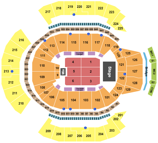 Chase Center seating chart event tickets center