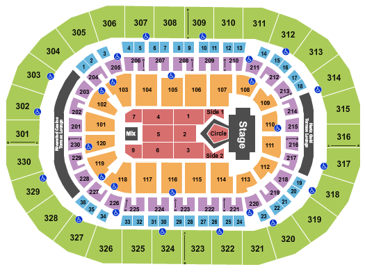 Chesapeake Energy Arena Floor Plan