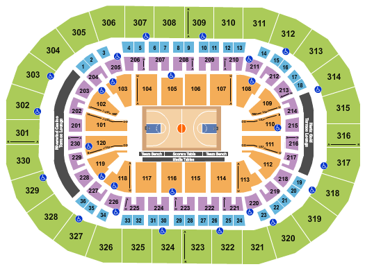 seating chart for Paycom Center Compete 4 Cause - eventticketscenter.com