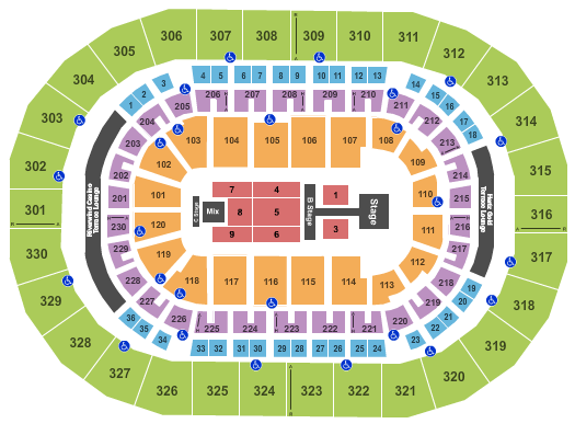 Chesapeake Energy Arena seating chart event tickets center