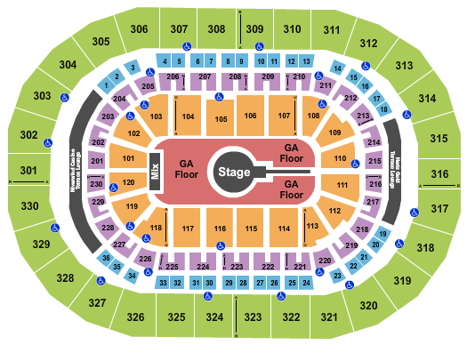 Chesapeake Energy Arena Floor Plan