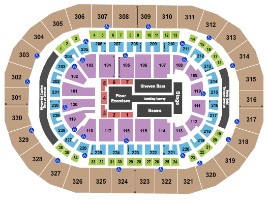 seating chart for Paycom Center Gold Over America - eventticketscenter.com