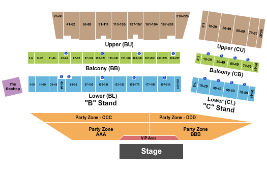 Cheyenne Frontier Days seating chart event tickets center