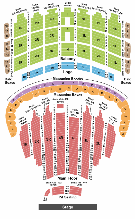 The Chicago Theatre Floor Plan