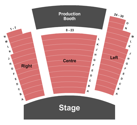 Chief Sepass Theatre at the Langley Fine Arts School Seating Chart
