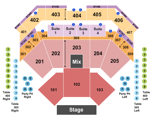 Choctaw Casino & Resort - Durant seating chart event tickets center