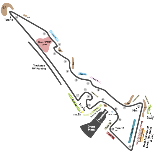 Circuit of The Americas Seating Map