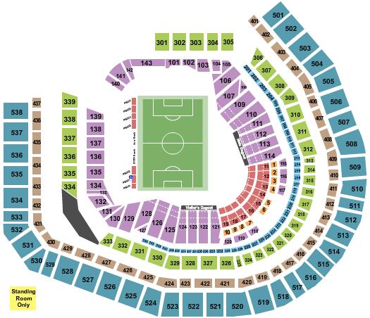 Citi Field Soccer seating chart - eventticketscenter.com
