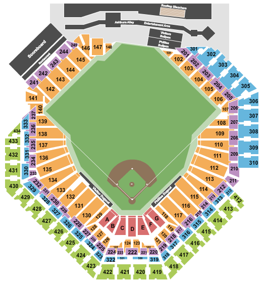 Citizens Bank Park seating chart event tickets center