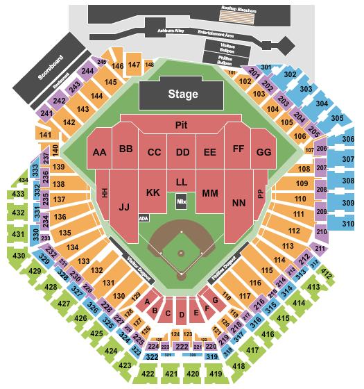 Citizens Bank Park seating chart event tickets center