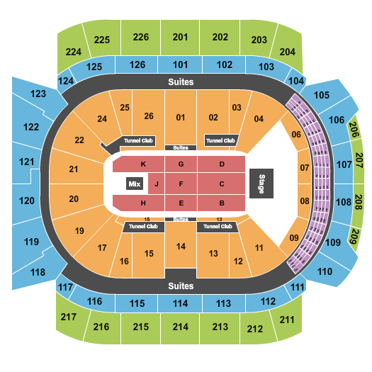 Trans-Siberian Orchestra Climate Pledge Arena Seating Chart