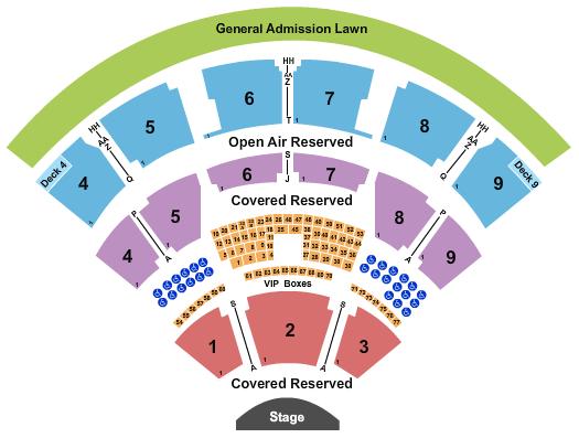 Coastal Credit Union Music Park at Walnut Creek seating chart event tickets center