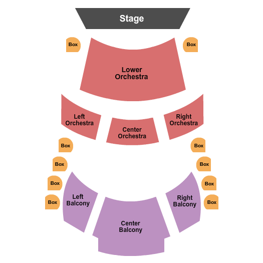 Coca-Cola Stage at Alliance Theatre Seating Chart Plan