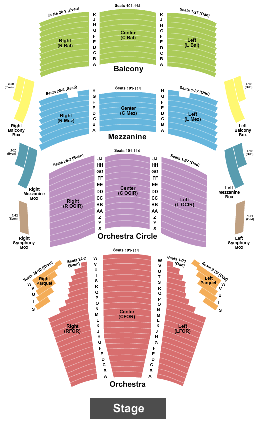 Cofrin Family Hall At Weidner Center For The Performing Arts seating chart event tickets center