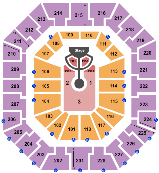 Colonial Life Arena seating chart event tickets center