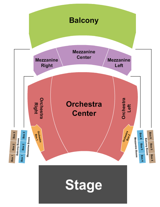Columbia County Performing Arts Center Seating Chart