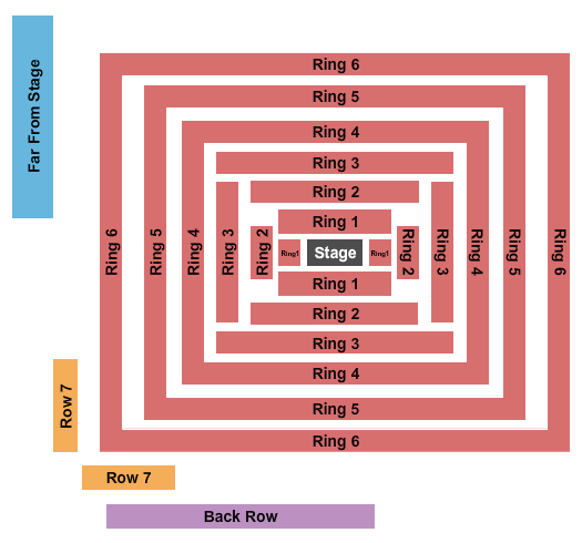 Concerts In Your Car - Ventura Seating Chart