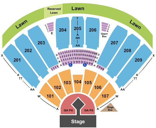 Concord Pavilion seating chart event tickets center