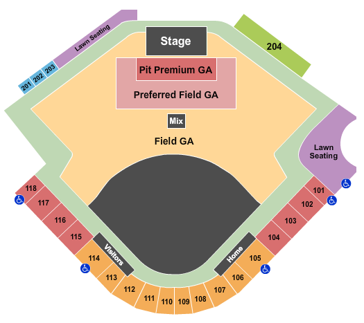 Four Winds Field at Coveleski Stadium seating chart event tickets center