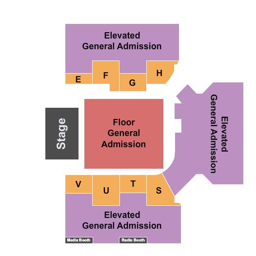 seating chart for Cross Insurance Arena Endstage GA Upper/Lower - eventticketscenter.com