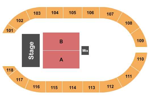 Crossroads Arena seating chart event tickets center